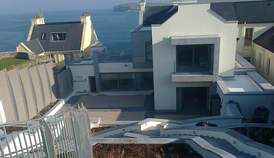 External painting of a house in Kilkee, County Clare by Total Paintworks Ltd., Decorators, Kerry, Ireland